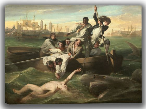 Copley, John Singleton: Watson and the Shark. Fine Art Canvas. Sizes: A4/A3/A2/A1 (004087)